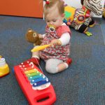 Erica on the xylophone on 26 November 2012.