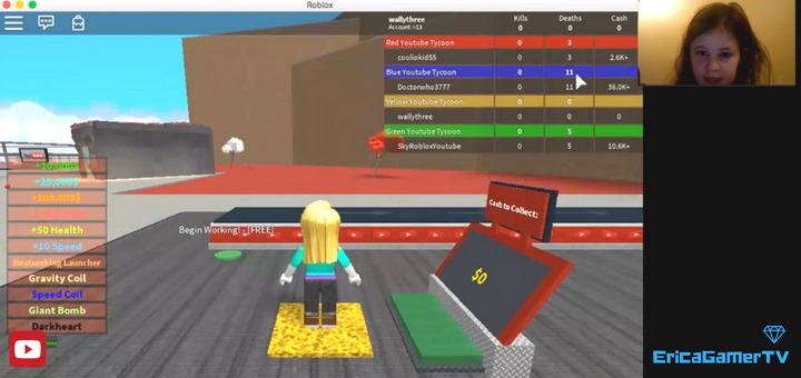EricaGamer Roblox YouTube Factory Tycoon! E1
